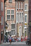 Folk i staden Aachen, Tyskland Arkivfoton