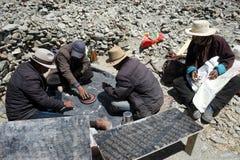 Folk i Tibet Royaltyfri Fotografi