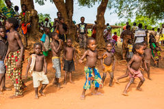 Folk i Togo, Afrika Arkivbild