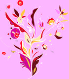 Folk illustration ornament. Pretty design, great for cards, posters, wallpapers, backgrounds vector illustration