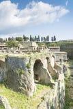 Folk inom Herculaneum Arkivbild