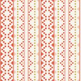 Folk Inspired Geometrical Embrodery Pattern. Seamless vector pattern, inspired by traditional Bulgarian embroidery motives royalty free illustration