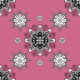 Folk inspired  wallpaper pale violet Royalty Free Stock Photography