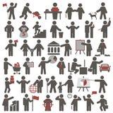 folk inställda symboler Arkivbild