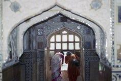 Folk Jaipur Indien Arkivfoton