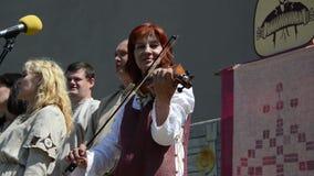 Folk kapel singing play stock video footage