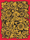 Folk Khokhloma. Ornament in style of Russian national tradition Royalty Free Stock Photos