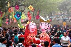 Folk konstnärer av Surajkund Fair-2014 royaltyfri foto