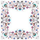 Folk Label Ten. Polish traditional folk pattern - ornamental flower  label Royalty Free Stock Photos