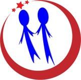 Folk logo stock illustrationer