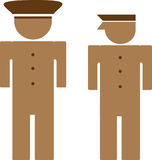Folk logo, polismanar royaltyfri illustrationer