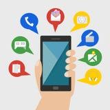 Folk med den smarta telefonen Arkivbilder