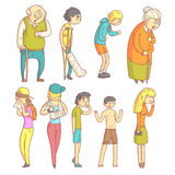 Folk med olika Illnesses Arkivbild