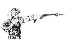 Folk med pistolen Royaltyfri Bild