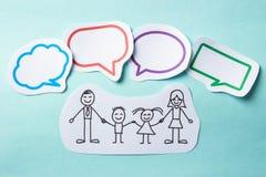 Folk med social nätverkande för bubblor Arkivbild