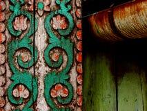 Folk motif. Detail of a székely-gate, Transilvanian folk motif stock image