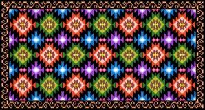 Folk motifs rug. Romania traditional folk ethnic motifs rug design royalty free illustration