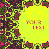 Folk motivram för textdesign Arkivfoto