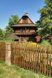 Folk museum in Czech republic. Historical wooden cottage in folk museum in Roznov pod Radhostem in Czech republic royalty free stock image