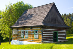 Folk museum för öppen luft, Slovakien Arkivbild