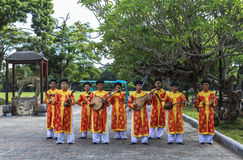 Folk music in Hue Palace, Vietnam Royalty Free Stock Photo