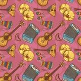 Folk Musical Seamless Pattern Royalty Free Stock Images