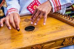 Folk musician bard Royalty Free Stock Images