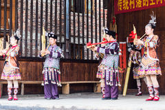 Folk musician in Culture Show in Chengyang village Stock Photo