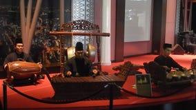 Folk musician, Kuala Lumpur, Malaysia stock video footage