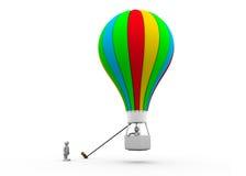 folk och ballong för affär 3d Arkivfoton
