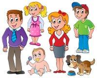 Folk- och familjsamling   Arkivbild