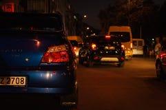 Folk och gator av den Cinarcik staden Arkivfoto