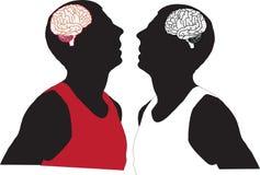 Folk och hjärna Arkivbild