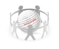 Folk och innovation royaltyfri illustrationer