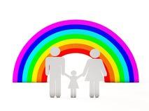 Folk och regnbåge Royaltyfri Illustrationer