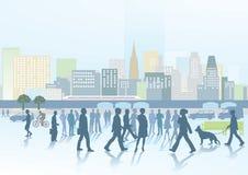 Folk och stad Arkivfoton