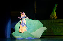 Folk Opera: conch girl. In May 7, 2010, a reflection of Jiangxi original ecological humanities landscape of large style song and dance the wind in Jiangxi Art Stock Photo