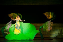 Folk Opera: conch girl. In May 7, 2010, a reflection of Jiangxi original ecological humanities landscape of large style song and dance the wind in Jiangxi Art Stock Image