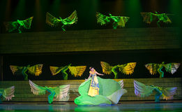 Folk Opera: conch girl. In May 7, 2010, a reflection of Jiangxi original ecological humanities landscape of large style song and dance the wind in Jiangxi Art Stock Photos