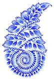 Folk ornament. High resolution, hand drawn illustration in Ukrainian folk style royalty free illustration