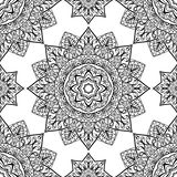 Folk,  ornament. Traditional, folk,  ornament. Seamless pattern of black contours on a white background. Template for shawl, carpet, wallpaper Stock Images