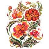 Folk ornament. Traditional Ukrainian folk ornament, Petrikovskaya painting with flowers royalty free illustration
