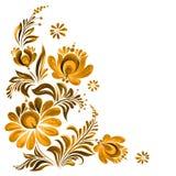 Folk ornament. Traditional Ukrainian folk ornament, Petrikovskaya painting with flowers for design vector illustration