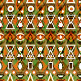 Folk ornamental textile seamless pattern Royalty Free Stock Photos
