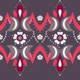 Folk ornamental textile seamless pattern background Royalty Free Stock Image
