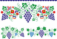 Folk ornaments stock illustration