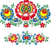 Folk ornaments. Vector illustration of folk ornaments (Moravian, Slavonic Royalty Free Stock Photos