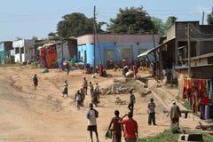 Folk på den afrikanska marknaden av Moyale i Etiopien, Royaltyfria Foton
