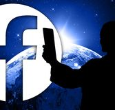 Folk på facebook, ny logofacebook royaltyfri illustrationer