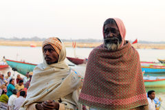 Folk på Ganges Arkivfoto